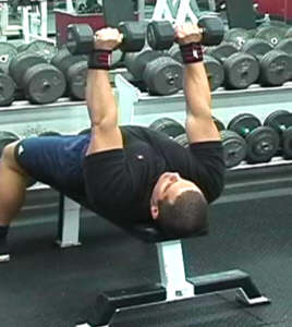 Elbows Out Dumbbell Extension