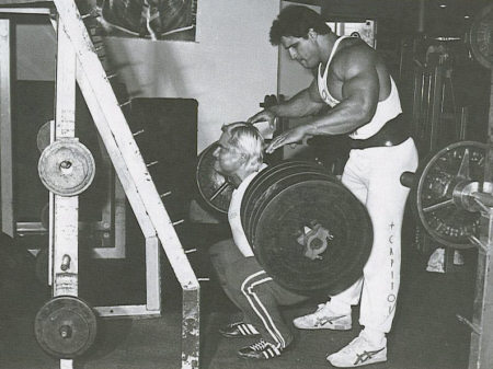Tom Platz Squatting Big Iron