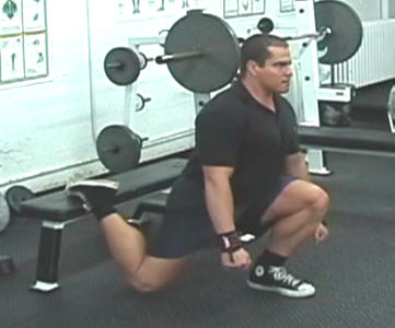 Bench Lunges