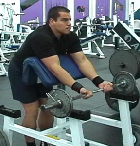 ez bar preacher curls