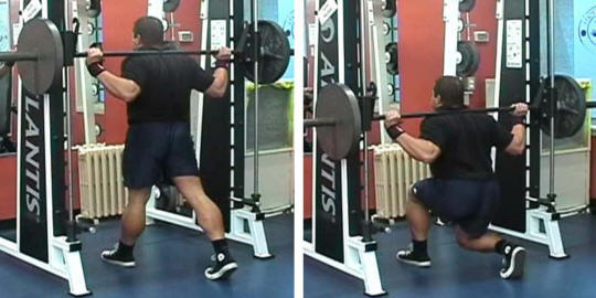 Smith Machine Barbell Lunge