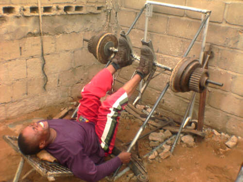 Home Made Leg Press