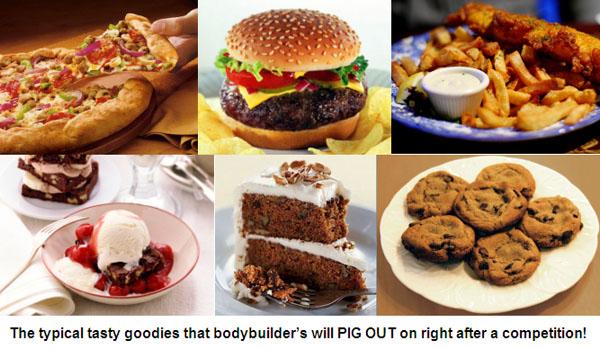 Post Contest Rebound Junk Food!